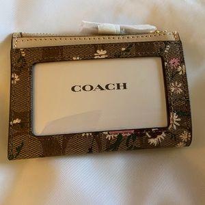 Coach Mini Skinny ID Case in Signature Canvas